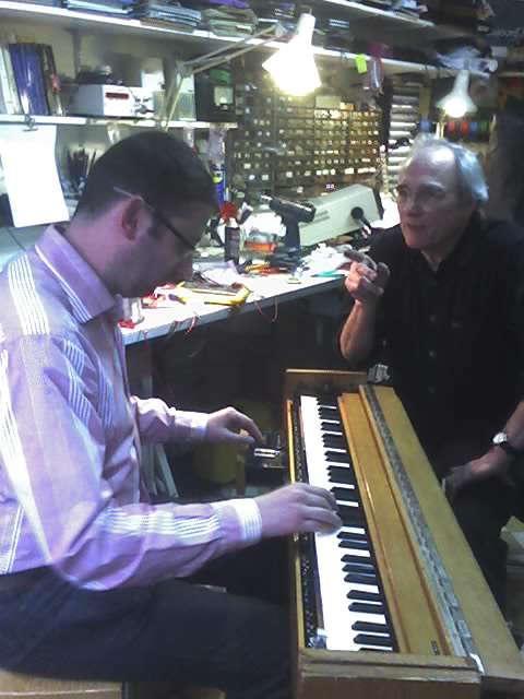 Bruno Perrault et Jean-Loup Dierstein à l'atelier