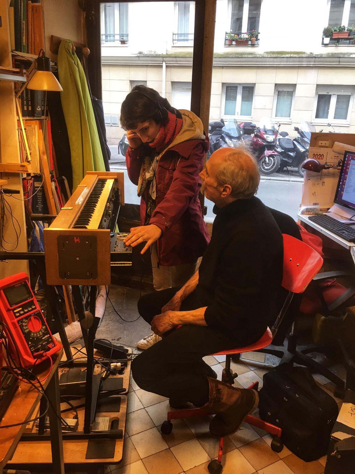 Cecile Lartigau et Jean-Loup Dierstein à l'atelier