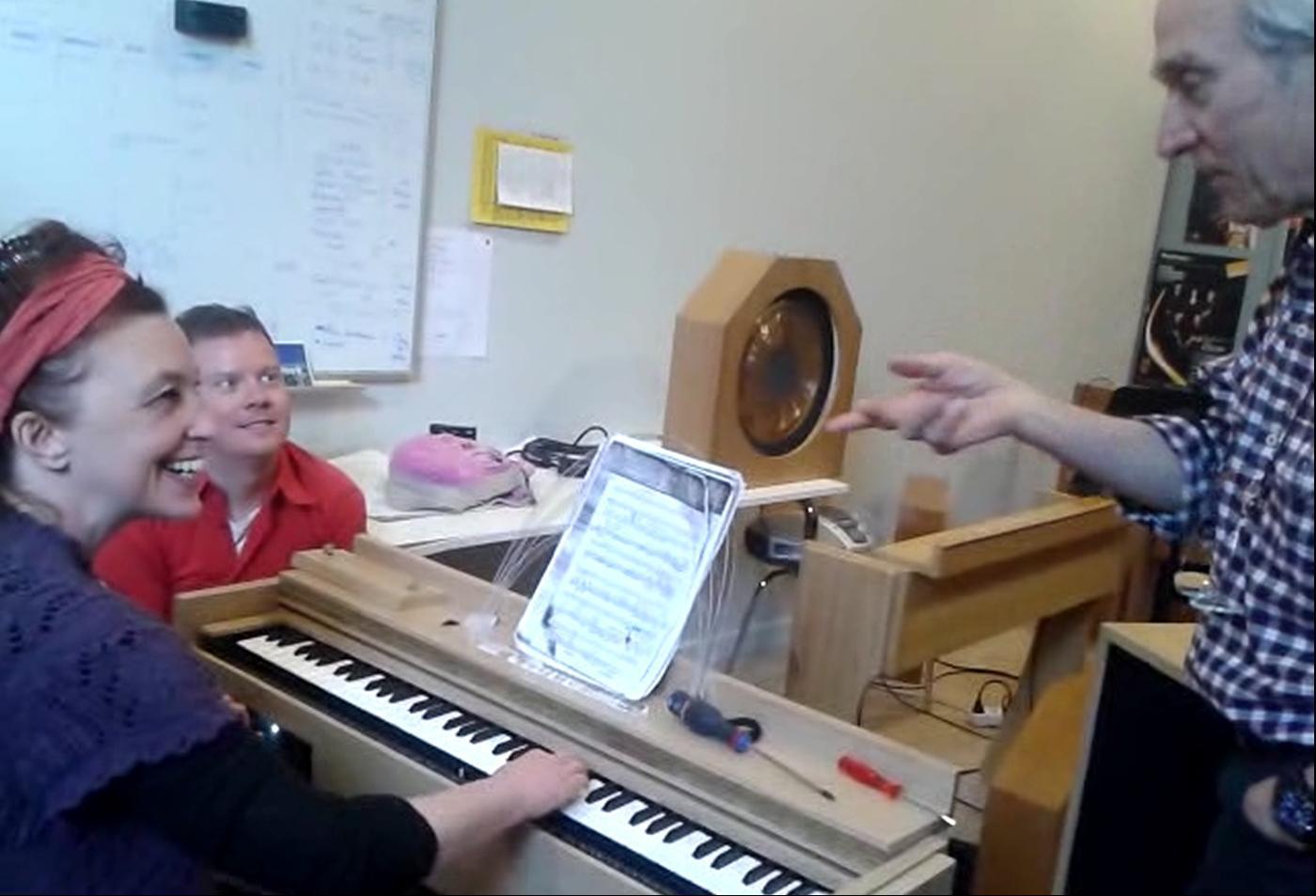 Christine Ott, Christopher Corbett et Jean-Loup Dierstein au Conservatoire de Strasbourg