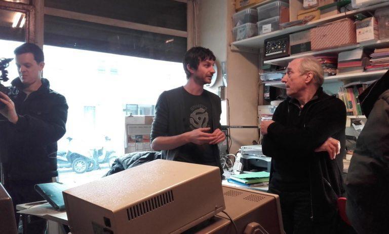 Gotye et Jean-Loup Dierstein à l'atelier