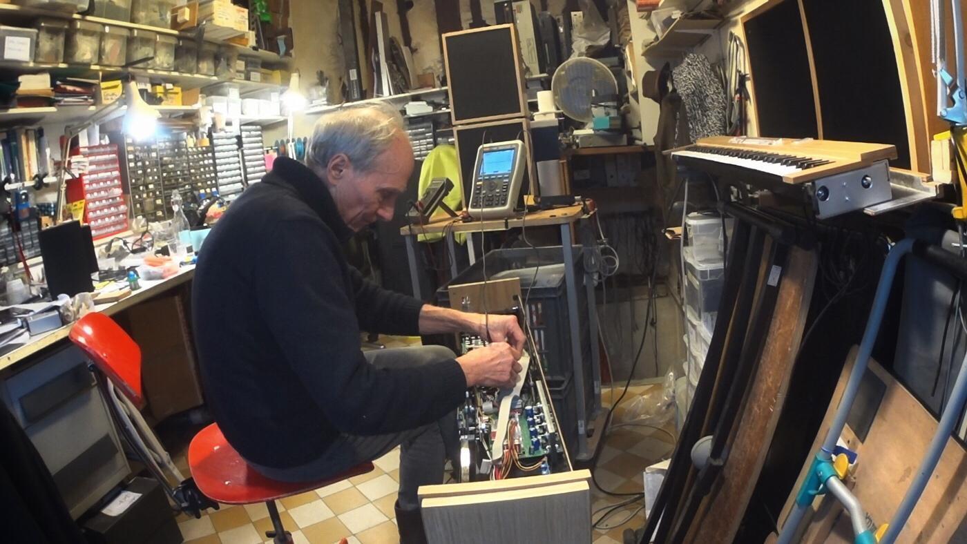 Jean-Loup Dierstein à l'atelier