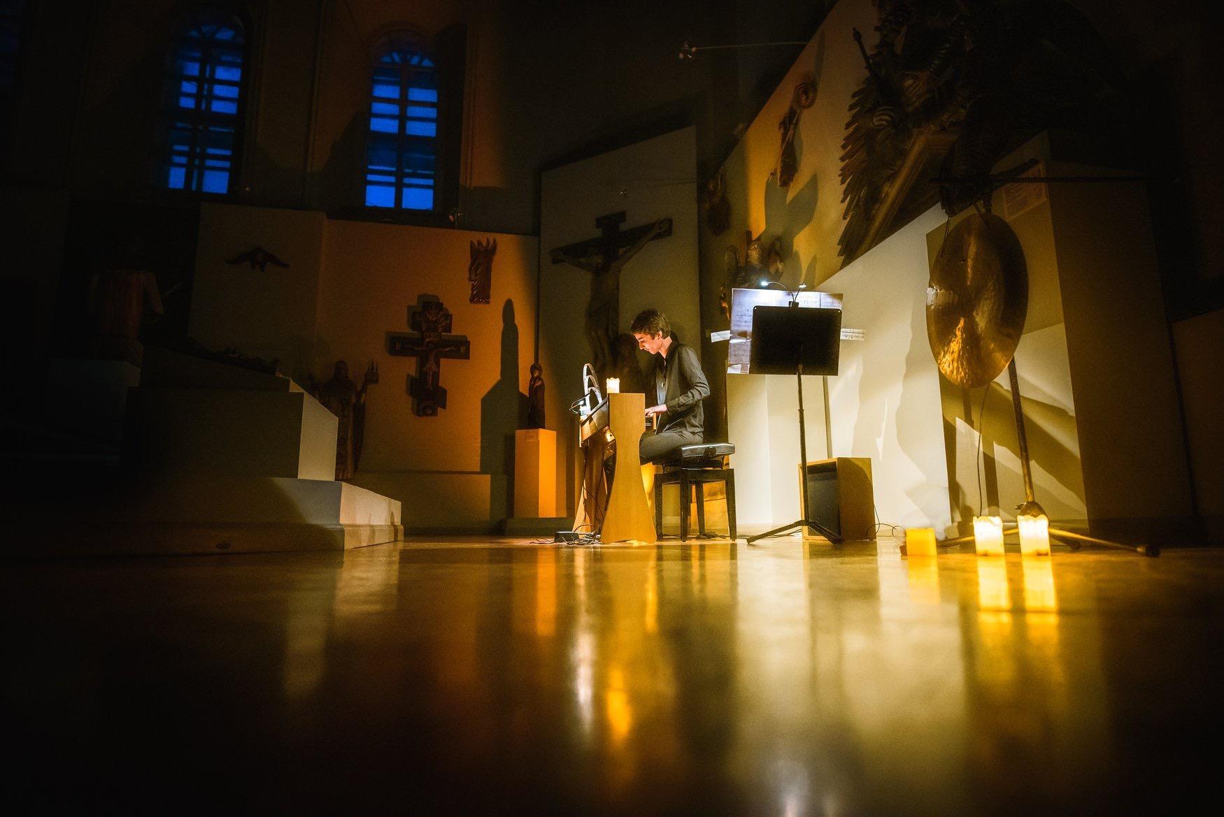 Cécile Lartigau sur scène